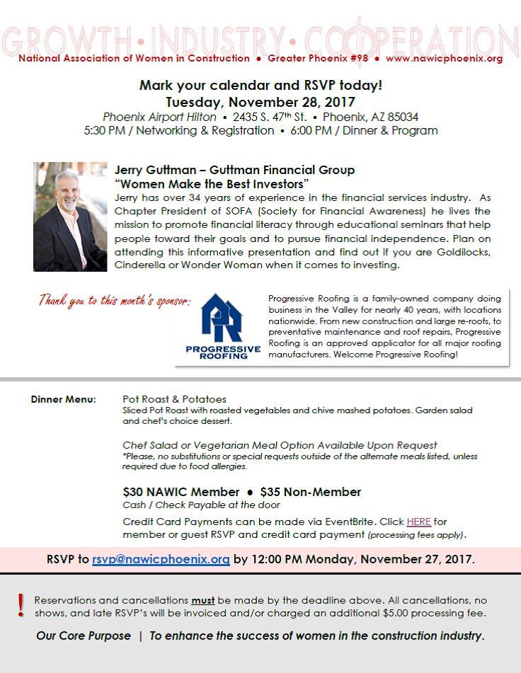 Exceptional 2017NOV28 Meeting Flyer   Guttman Financial Service   Jerry Guttmann