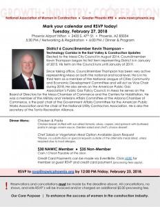 NAWIC Phoenix Feb 2018 Meeting - Kevin Thompson Tech corridor